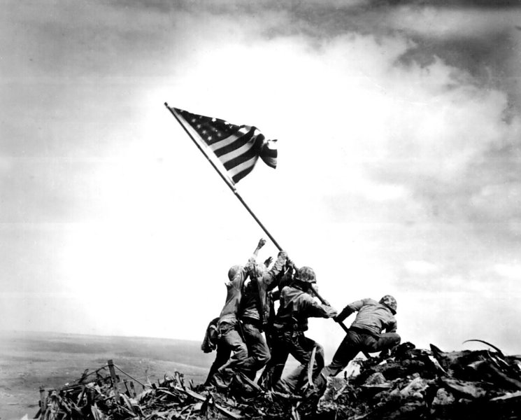 Marines Raise Second Flag On Iwo Jima